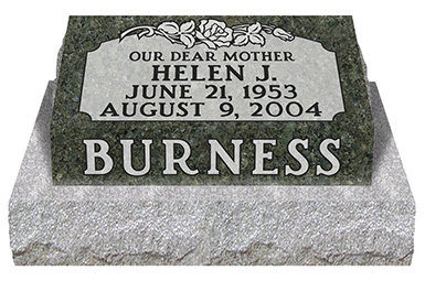 Summit_Memorials_Pillow_Headstone_burness