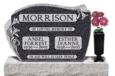summit_memorials_pillow_headstone_bluepearl